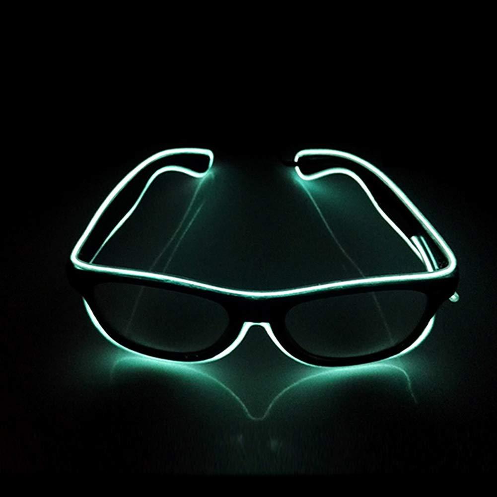 Suncentech Luminoso Occhiali Regolabile El Cavo con Controllore, Occhiali Illuminano novità Feste Costumi Travestimenti Decor (Giallo)