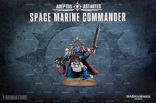 - Adeptus Astartes Space Marine Commander Warhammer 40,000 Plastic Model Set