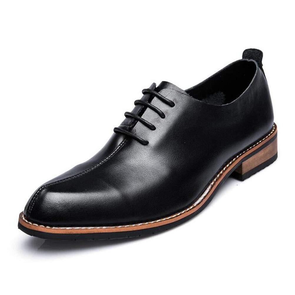 ZFAFN Herren Business Schuhe Lederschuhe Anzugschuhe, Spitze Hochzeitsschuhe Schnürhalb Schuhe Derby Schuhe Hochzeitsschuhe Spitze Freizeitschuhe, 42 - bfd2e3