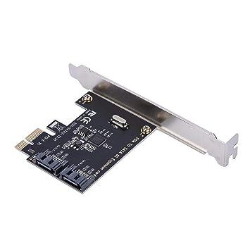 Aufee Tarjetas PCI-E Tarjetas PCI Express a SATA 3.0 de 2 Puertos SATA III 6 Gbps Adaptador de expansión