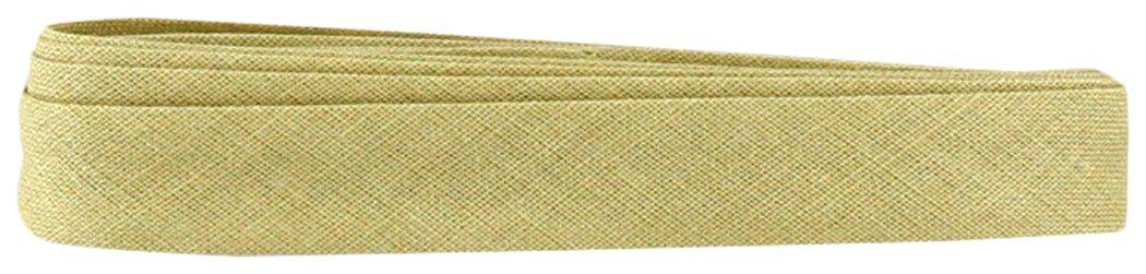Inastri –  Nastro sbieco di cotone 14/4/4 mm, colore beige 129 –  3 m colore beige 129-3m COL-129WT