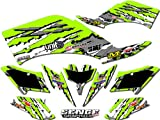 Senge Graphics 2007-2016 Kawasaki KFX 50, Shredder Green Graphics Kit