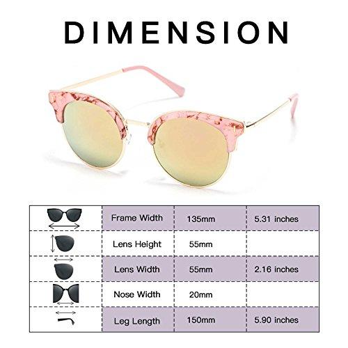14 para y Con Lente Personalizadas Mujer UV400 Clásicas Gafas de Nueva Sol AC 2018 Casuales Smileyes hombre Colocción 4qpxH