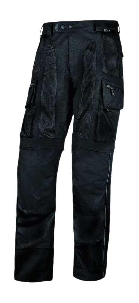 Olympia Moto Sports MP224 Men's Dakar Dual Sport Mesh Tech Pants (Black, Size 36)