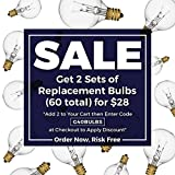 30 Pack of G40 Replacement Bulbs: 5 Watt G40 Globe Bulbs for String Lights, Candelabra Screw Base, Fits E12 and C7 Sockets, Indoor/Outdoor Use, Clear Glass G40 Bulbs, Secure & Convenient Packaging