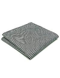 Shlax&Wing Clásico La Moda Hombre Seda Pañuelo De Bolsillo Para Negro Blanco Puntos 32cm