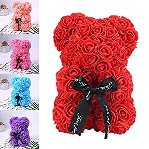Yiwa Romantice Rose Bear Toy with Box for Valentine's Day Wedding Party Gift 25