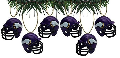 - Football Minnesota Vikings Helmet Ornaments Set Of 6