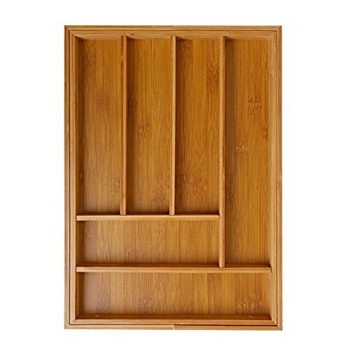 Ivation Expandable Bamboo Drawer Organizer
