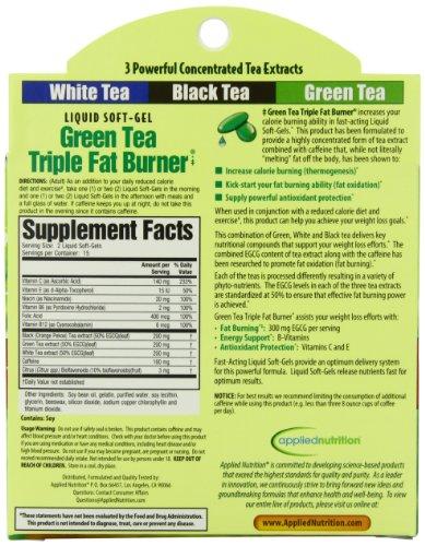 Applied Nutrition Green Tea Triple Fat Burner, 30 Liquid Soft-Gels
