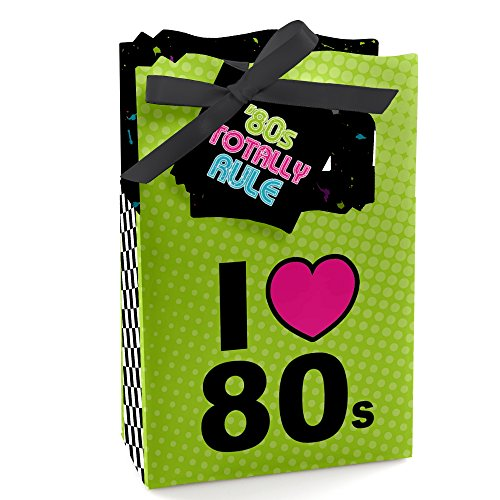 Big Dot of Happiness 80's Retro - Totally 1980s Party Favor Boxes - Set of 12