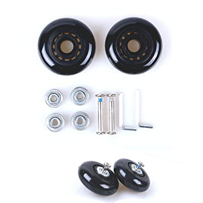 YIMFA Black Luggage Suitcase/Inline Outdoor Skate Replacement Wheels with ABEC 608zz Bearings : Sports & Outdoors