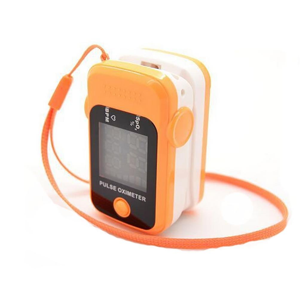 LPY-Fingertip Pulse Oximeter Oximetry Blood Oxygen Saturation Monitor with Free Neck/Wrist Cord , orange