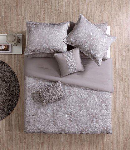 Luxury Home 8-Piece Rennes Comforter Set, Queen