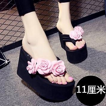 Der Sommer kommt. Hausschuhe Frauen Mode rutschhemmend Plattformen High Heels Flip Flops Neue handgearbeitete...