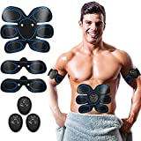 HUIZZ Abs Trainer,Ems Muscle Stimulator,Abdominal Muscle toner Fitness Training Gear ABS Fit Weight Muscle Toning Ab Belts Toning Gym Workout Machine For Men & Women