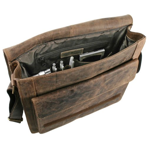 Greenburry Vintage borsa a tracolla pelle 36 cm sattelbraun