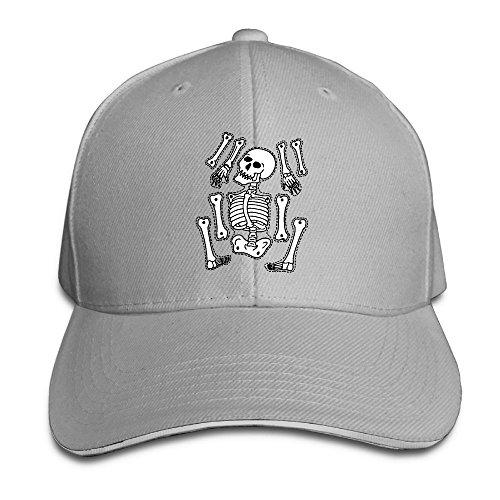 SNMHILL Men Women Printable Skeleton Fashion Peaked Sandwich Hat Sports Adjustable Baseball Cap Unisex]()