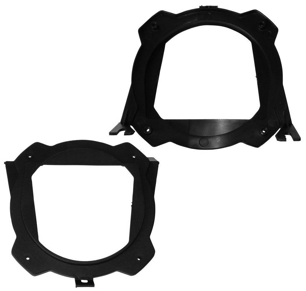 Aerzetix - 2 x adattatore per ripiano posteriore , staffe per gli altoparlanti 130mm 13 cm . SK2-C11635-A126