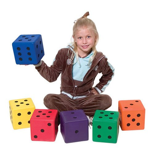 COLOR MY CLASS 6'' FOAM DICE by Athletic Specialties