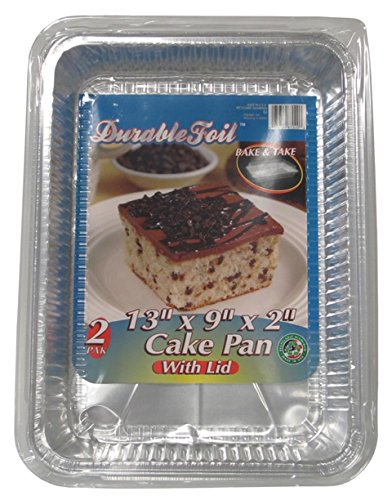 Durable Foil 13-Inch x 9-Inch Pan with Lid (Pack of 36 Pans with lids)