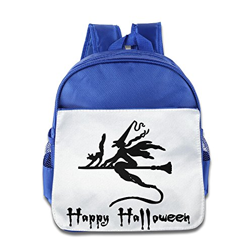 XJBD Custom Personalized Halloween Boys And Girls School Bag For 1-6 Years Old RoyalBlue (Tales Of Halloween Trailer)