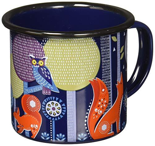 Folklore AFOL034 Night Design Enamel Camping Coffee Mug 13.5 oz