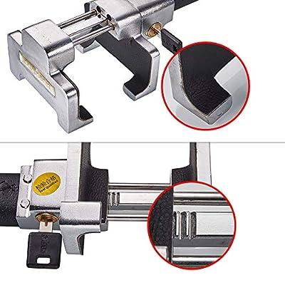 Blueshyhall Anti Theft Safety Alarm Steering Wheel T-Lock Universal for Auto Car Truck: Automotive