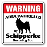 """Schipperke Security [3 Pack] of Vinyl Decal Stickers 