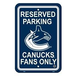 NHL Vancouver Canucks Reserved Parking Sign, 12\