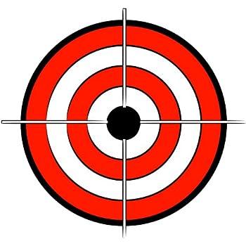Amazon.com: Bullseye Pegatina 4, color blanco: Automotive