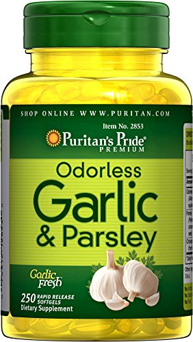 Puritan's Pride Odorless Garlic & Parsley 500 mg / 100 mg-250 Rapid Release Softgels