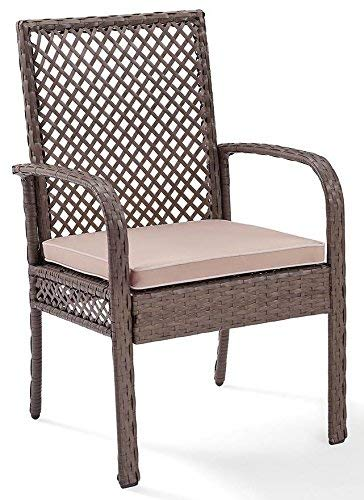 Crosley Furniture CO7177DW-SA Tribeca Outdoor Wicker Dining Chairs, Set of 4, Driftwood Grey