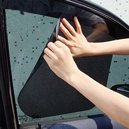 2 pcs car side window static cling films stickers sun shade stickers uv protection shield visor