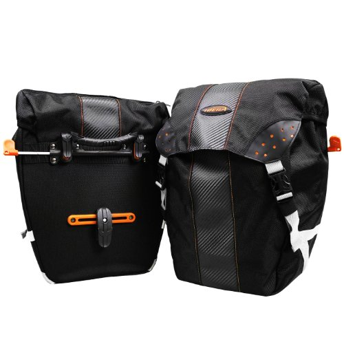 faedab2536b7 Ibera Bicycle Bag PakRak Clip-On Quick-Release All Weather Bike Panniers  (Pair)