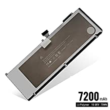 CMP 7200mAh Replacement Battery A1321 for Apple MacBook Pro 15 inch (2009 2010 Version) A1321 A1286 (Cycles Charge > 800 Times), Fits MB985 MB986 MC118 MC371 MC372 MC373