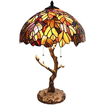 Tiffany Style Stained Glass Table Lamp: 24.5 Inch Victorian Style ...