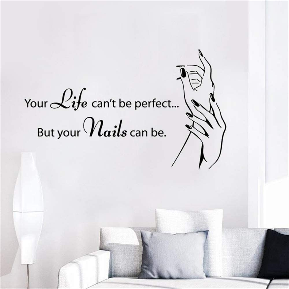 Amazon Com Wall Decor Stickers For Living Room Window Quote Nail Salon Beauty Salon Nail Decor Nail Studio Nail Polish For Girls Bedroom Home Kitchen