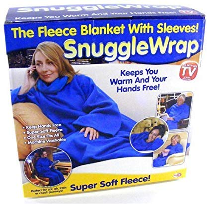 ... Polyester Blend Snuggle Fleece Blanket Cozy Wrap Warm Throw Travel Plush  Fabric with Sleeves (Multicolour) Online at Low Prices in India - Amazon.in 7dae94b8c