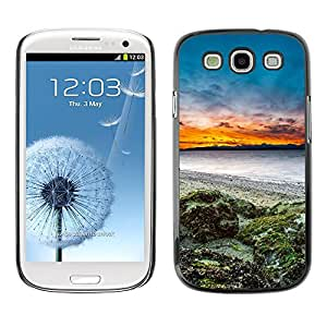 Hot Style Cell Phone PC Hard Case Cover // M00102247 sunset nature seaside // Samsung Galaxy S3 i9300