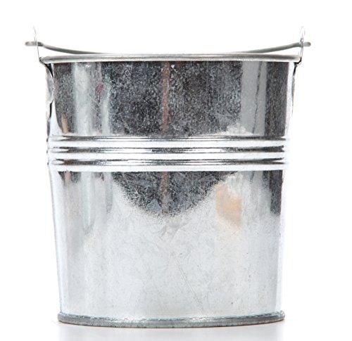Hosley Set of 6 Galvanized Buckets - 4