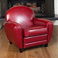 Christopher Knight Home 216738 David Club Chair, Ruby Red