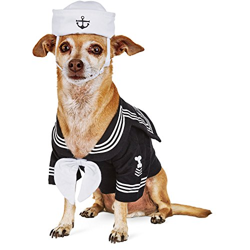 Petco Halloween Sailor Dog Costume,X-SMALL - Petco Halloween Costumes