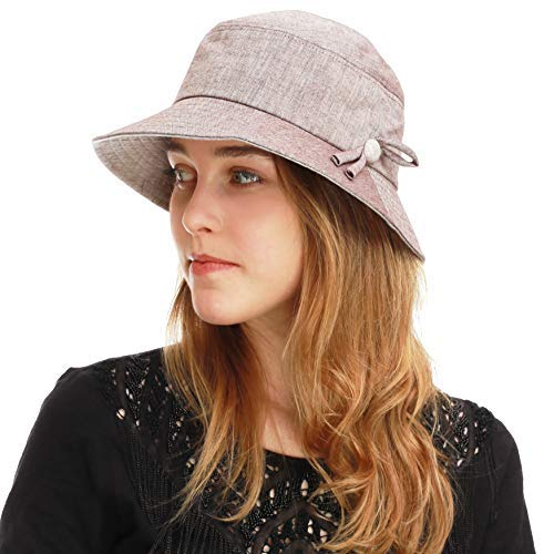BLACK HORN Light Weight Packable Women's Wide Brim Sun Bucket Hat