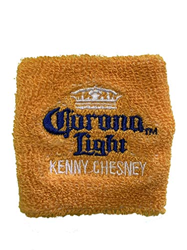 Corona Light Kenny Chesney Terry Cloth Wrist Band