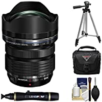 Olympus M.Zuiko 7-14mm f/2.8 PRO ED Digital Zoom Lens (Black) with Tripod + Case+ Cleaning Kit for PEN & OM-D Digital Cameras