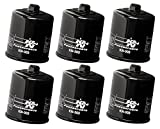K&N Powersports Black Oil Filters (Pack of 6) 1999-2005 Yamaha YZF-R6 / KN-303
