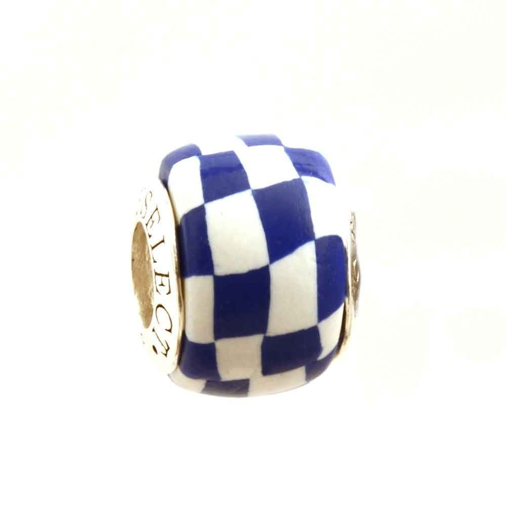 Autism Awareness Puzzle Jigsaw Bead Charm for European Style Add-A-Bead Bracelets Clay /& Sterling Silver by MAYselect