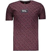 Camiseta Fatal Print Especial Vinho Mescla