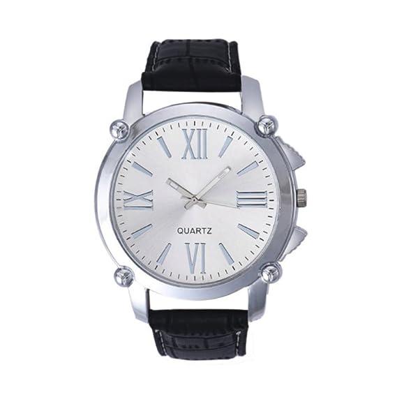 timelyo® Reloj habillée para hombre cuarzo Watch Replica regalo cumpleaños Bijou Mode reloj gris
